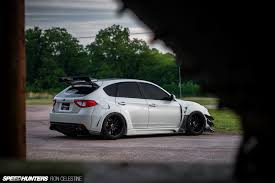 subaru wrx hatch east meets west in a wide body wrx hatch anything cars the car