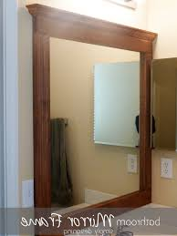 large framed bathroom mirrors lowe u0027s mirror frame kit frames for