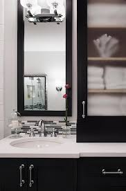 black cabinet with glass doors black bath vanity cabinets with frosted glass doors transitional