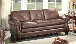 sofa match homelegance greermont sofa top grain leather match brown 8446