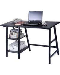 Computer Desk Deal Amazing Deal On Costway Modern Trestle Desk Laptop Writing Table
