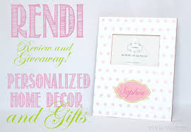 rendi personalized home decor and gifts thrifty nifty mommy