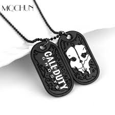 tag chain necklace images Hot sale dog tag call dutys ghosts necklace pendant ghosts cosplay jpg
