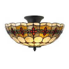 Flush Ceiling Light Fixtures Atlantic Tiffany Semi Flush Ceiling Light By Tiffany Lighting Direct