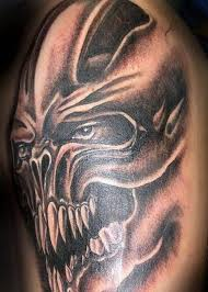big scary teeth horror skull image tattooshunter com