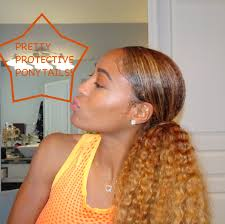 Hair Extensions Supply Store by Protective Styling Part 1 Pretty Ponytails Feat Curly Hair