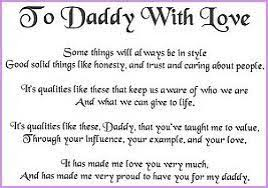 letter to my daddy from daughter format