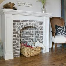 How To Cover Brick Fireplace by The 25 Best Faux Fireplace Ideas On Pinterest Fake Fireplace