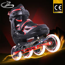 light up inline skates adjustable new coming inline skating light up shoes roller skating