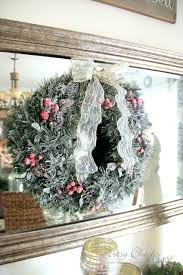 diy snow flocking wreaths live branches and more artsy
