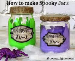 spooky halloween jars