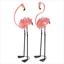 wholesale size pink flamingo lawn ornaments wrought iron