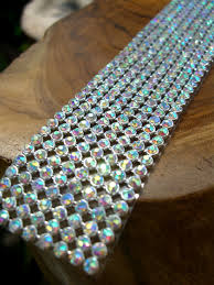 ribbon trim diamond ribbon trim with glass stones silver setting 1 1 8in x 18 1 2