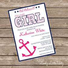 how to create nautical baby shower invitations invitations templates