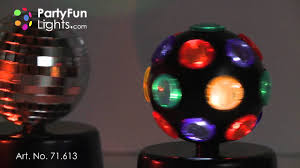 mini party set rotating disco light mirror light and police light