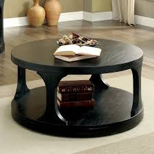 Overstock Round Coffee Table - furniture of america nela contemporary antique black round coffee
