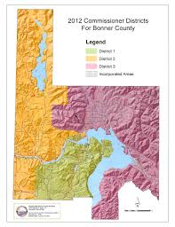 Idaho County Map Commissioner Districts U2013 Map Bonner County Government Web Site