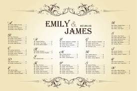 wedding seating chart template wedding seating chart vintage for your reception