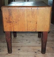 antique primitive maple butcher block table from