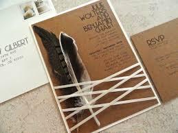 indian rustic wedding invitation indian summer feather wedding