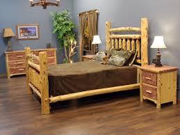 Wood Log Bed Frame Bedroom Log Bedroom Sets Cedar Arkansas Post Log Bed