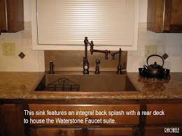 kitchen sink backsplash sinks with integral back splashes by rachiele