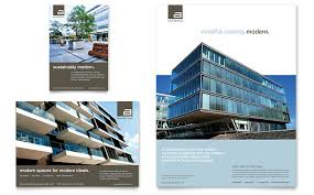 ad architectural design architect flyer ad template word publisher