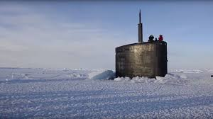 arctic maserati watch a nuclear submarine punch through arctic ice the drive