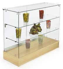 Merchandise Display Case Maple Finished Glass Counter 4 U0027 Frameless Design