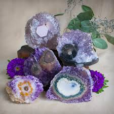 amethyst stalactite flowers for calm peace and balance
