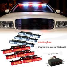 security led lights car amazon com nilight red white 54x led emergency service vehicle