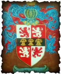 coat of arms an wolfhound is the crest of this family
