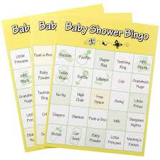 amazon com 24 baby shower game bingo cards baby shower bingo