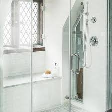 Walk In Shower With Bench Seat Seamless Glass Shower Doors Design Ideas