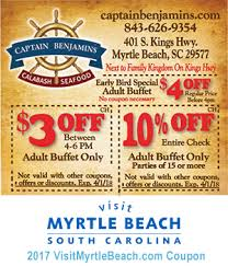 Old Country Buffet Printable Coupons by Captain Benjamin U0027s Calabash Seafood 3 Off 4 6 P M Or 10 Off