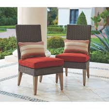 Patio Chairs With Cushions Hampton Bay Oak Cliff Stationary Metal Outdoor Dining Chair With