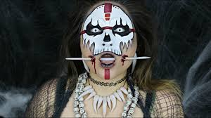 witch doctor and voodoo doll costume voodoo witch doctor halloween makeup tutorial youtube