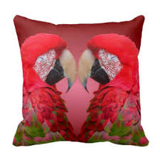 red parrot pillows decorative u0026 throw pillows zazzle