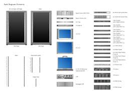 rack diagrams rack diagrams vector stencils library how to