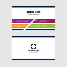 Flat Design Business Card Colorful Business Card In Flat Design Vector Free Download
