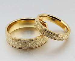 gold wedding rings the new titanium steel plated 18k gold wedding rings