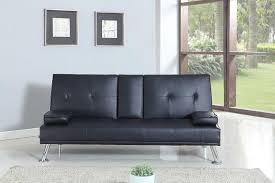 Ebay Leather Sofas by Bluetooth Cinema Sofa Bed With Drink Cup Holder Table Faux Leather