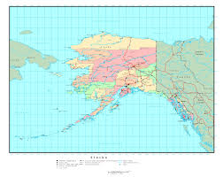 Usa Map Alaska by Large Administrative Map Of Alaska State With Roads And Major