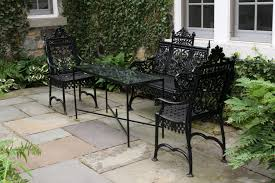 Metal Garden Chairs And Table Gary C Sharpe Decorative Iron Garden Furniture