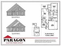 paragon custom home group floorplans