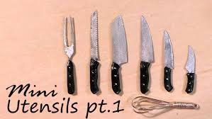 miniature kitchen utensils knives u0026 whisk tutorial youtube