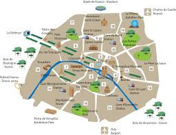 France On A Map by A Map Of The Top Tourist Sites In Paris Official Website For