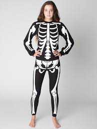 Halloween Skeleton Bodysuit Glow Skeleton Cotton Spandex Jersey Legging American Apparel
