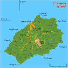 ascension islands map helena island wikitravel