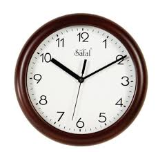 wall watch buy safal wooden wall clock 23cm x 23cm brown online at low